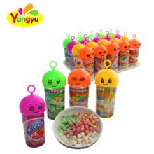 Cute cartoon bottle sour sweet mini fruity tablet candy