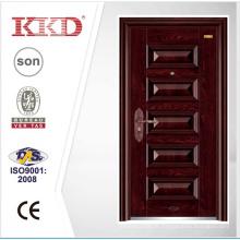 Novo estilo porta única com boa fechadura KKD-101 da China Top 10 porta marca