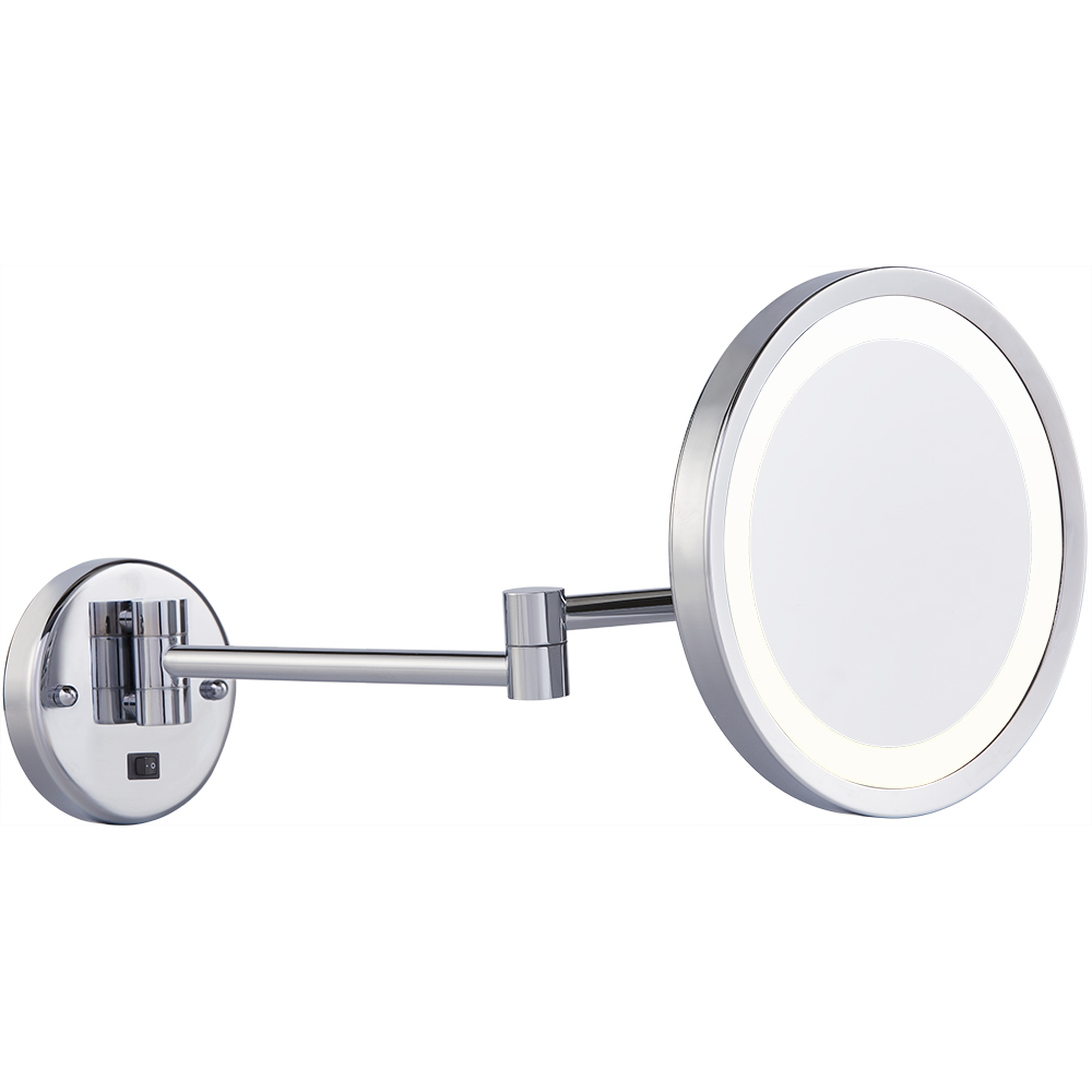 Wall mounted shaving mirror