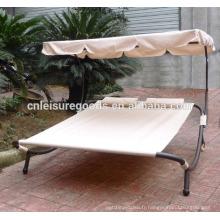 Uplion outdoor piscine en acier sunbed avec auvent