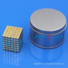 Bloc-coffre Imprimé porteur de néodyme cube
