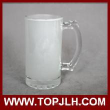 Caneca de cerveja em vidro 16oz em branco fosco preço EXW