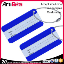 Wholesale cheap printed aluminium luggage tag with metal ring