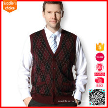 New design cashmere sweater men knitting vest sleeveless cashmere vest