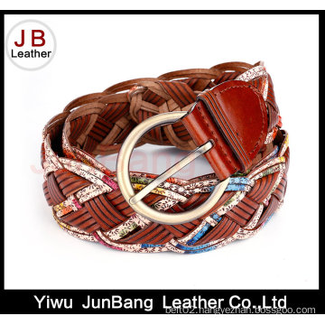 Hot Quality Women′s Bonded Leather Braid Belt
