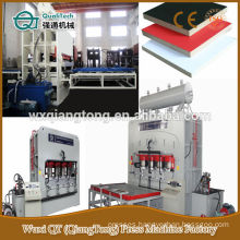 Double sides short cycle press/ 4x8 furniture board hot press machine/ double sides laminating hot press