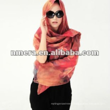 Digital print, 100% wool scarf