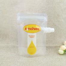 Custom juice-bag and zipper food packaging spout-bag