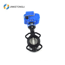 Pipa air Pn16 menggunakan stainless steel 316 electric butterfly valve