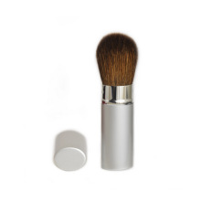 Retractable Blush Brush with Natural Hair