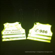 Réflecteur de lumière de sécurité de Noël promotionnel pas cher pour la marche