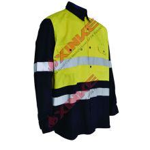 Chemise ignifuge aramid de vente chaude Chemise ignifuge aramid de vente chaude paramètres techniques 1.Fabric de chemise ignifuge d'aramid: