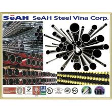 Suministro de tubos de acero de andamios de 48,3 mm a JIS 3454, KS, BS, ASTM y otros tubos de acero de 21 mm a 219 mm