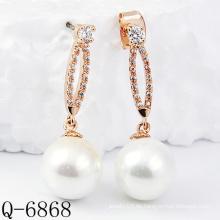 Neueste Styles Perlen Ohrringe 925 Silber (Q-6868)