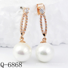 Latest Styles Pearl Earrings 925 Silver (Q-6868)