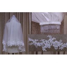 Chiffon Lace One Layer Veil