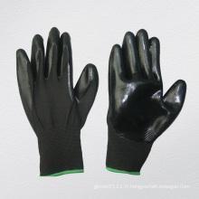 Gant chimique enduit de nitrile de revêtement de polyester de 13G (5029. BL)