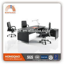 MT-25 executive PU table stainless steel frame MDF office table