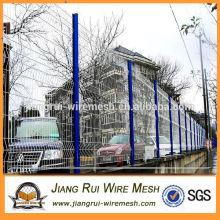 China fabricação de plástico revestido 3D dobra cerca / jardim cerca de fio dobrável