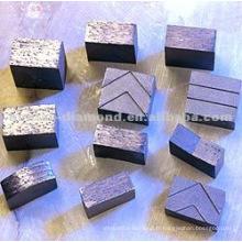 Différentes formes de segments de diamant pour scies à scie et outils abrasifs