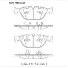 Semi-Metallic Car Brake Pads OE:34110300361 for BMW
