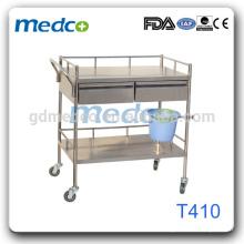 Chariot d'opération en acier inoxydable T410