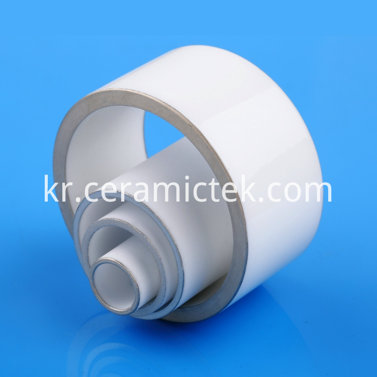 Metallized alumina ceramic tubes