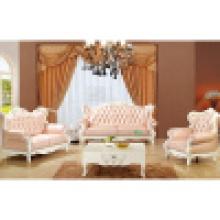 Sofá de casa com armação de sofá de madeira e mesa lateral (992A)