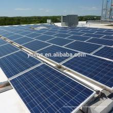 Estructura de montaje de panel solar de aluminio, montaje lastrado de panel solar en techo plano y campo abierto
