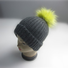 Bonnet Chunky Avec Pompom Big Fur