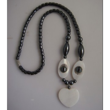 Hematite pearl Shell Necklace