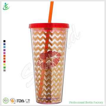 32oz enorme vaso de plástico com qualidade de palha garantida (TB-A1-6)