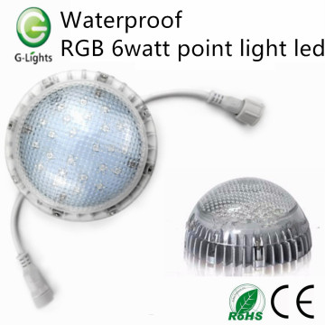 Impermeable RGB 6watt led punto de luz