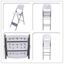 Cadeira plástica de alta inclinação para mesa de coquetel