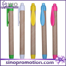 Thick Eco-Friend Ball Pen with Clip Logo Printing Promotional Advertising