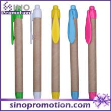 Bolígrafo de Eco-Amigo grueso con la impresión de la insignia del clip Publicidad promocional