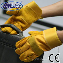 NMSAFETY welding use cow split leather working high quality leather welding gloves