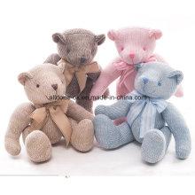 Fabrik Versorgung Strick Pullover Stoff Baby Hand gemacht Bär Spielzeug