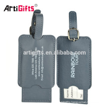 promotional gifts handsome guangdong pu luggage tag custom supplier in china