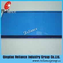 Verre flotté teinté bleu foncé de 4mm avec ISO