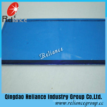 Vidro de flutuador matizado azul escuro de 4mm com ISO