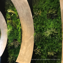 Customized indoor waterproof greenery artificial plant wall with foliage
