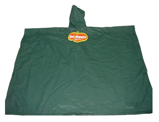 Green Pvc Waterproof Poncho