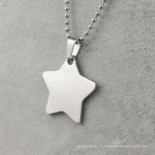 Top vente sliver star pendentif médaillon, fabricants de médaillon
