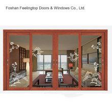 Ventana de cristal de aluminio elegante de los diseños de la venta caliente (FT-W85)