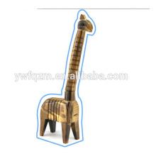 el animal de madera del precio al por mayor forma la jirafa de madera