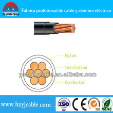 Thhn Copper Conductor PVC isolé Nylon Jacket Wire and Cable