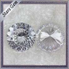 Wonderful Mellinnum Cut Round White Synthetic Diamond