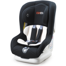 Child car seats with orange grey covers