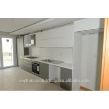 Cabinet de cuisine design moderne de luxe 2017 avec portes laquées, tiroirs à fermeture souple, fabrication en gros